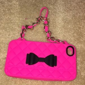Hot pink purse iPhone 4s case