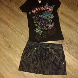 Size 0 Denim mini skirt