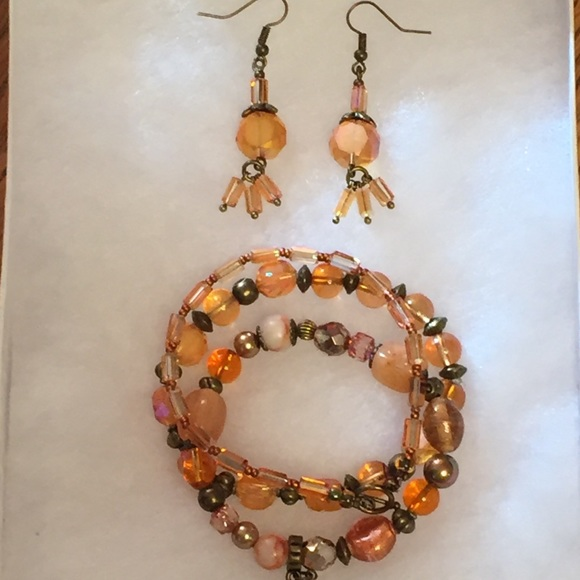 60 off JK Designs Jewelry Czech Glass Crystal Drum Bracelet
