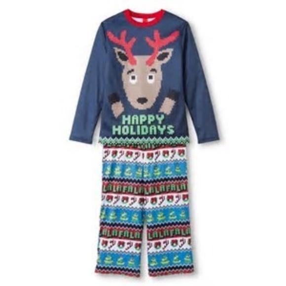 a283c8c800 Boys Christmas 2pc Reindeer Sleepwear Pajama NEW