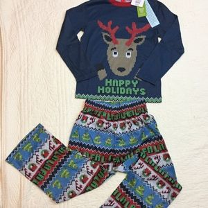 Other - Boys Christmas 2pc Reindeer Sleepwear Pajama NEW