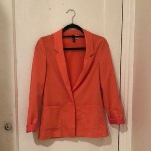 H&M coral blazer