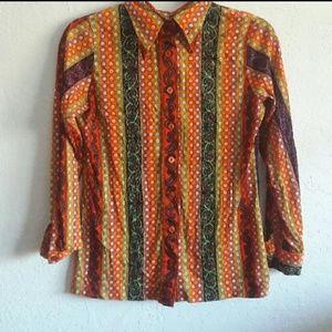 1960s/70s paisley blouse