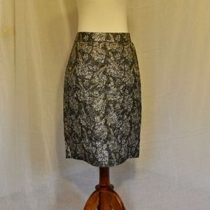 [NWT] JCrew Size 6 Metallic Pencil Skirt
