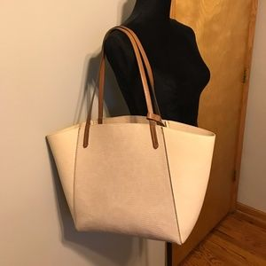 Zara Basic Collection Ivory and Beige Tote