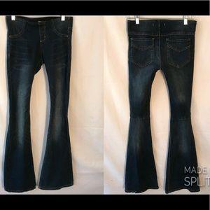 Free People Womens Flare Leg Gummy Denim Jeans 27