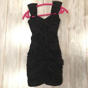 Black Bebe Bandage Dress