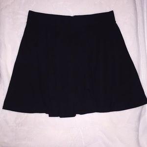 Black Half-Zip Skater Skirt