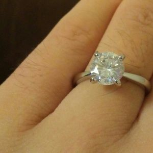 18k gold plated sterling silver cz diamond ring
