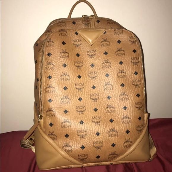 7298b58b4b62 MCM Bags   Authentic Duke Visetos Backpack Cognac   Poshmark