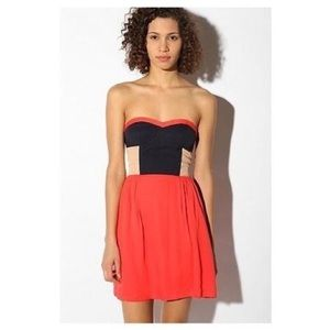 Urban outfitters sparkle and fade color block
