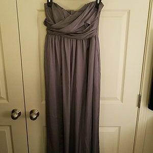 Gray Floor Length Gown