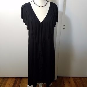 Mossimo Black Ruffled Shift Dress