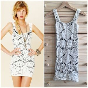 Intimately Free People White Medallion Slip Dress