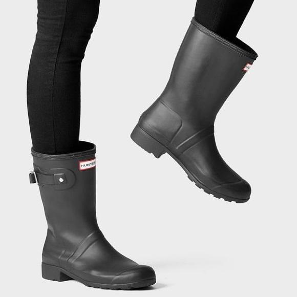 85e6b8e46bf NEW Hunter original refined short rain boots