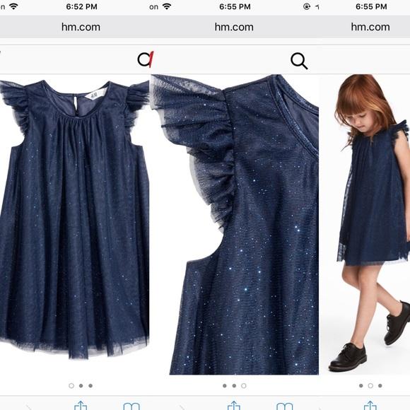965453ffe6dc2 H&M Dresses | Hm Glitter Tulle Dress 1218m | Poshmark