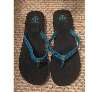 Tory Burch Blue Flip Flops