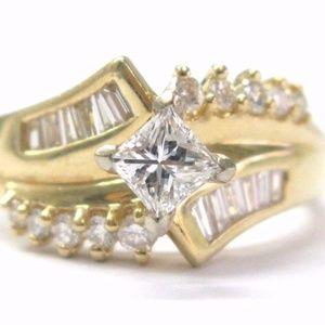 Fine Round & Baguette Diamond Engagement Jewelry R