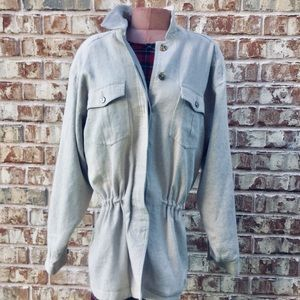Linen Blend Fila Anourak Field Jacket Tan