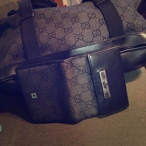 AUTHENTIC Gucci Satchel Handbag & Wallet