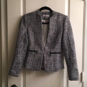 H&M Navy Tweed Blazer - 4