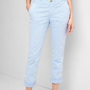 Gap Women's Bicoastal Blue Twill Stripe Chino Sz 4