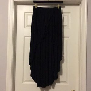 Brandy Melville High low black skirt