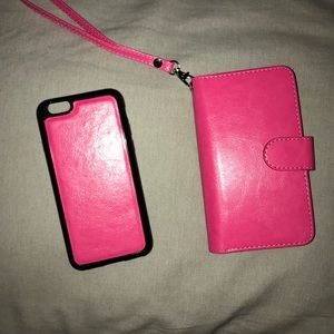 Wallet/magnetic cell phone case