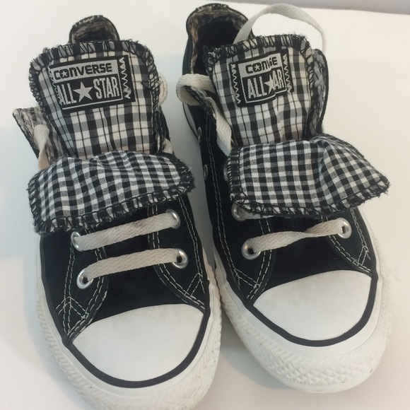 7b1ae4effa41 Converse Shoes -  Converse  Plaid Gingham Tongue Flap Sneakers 6