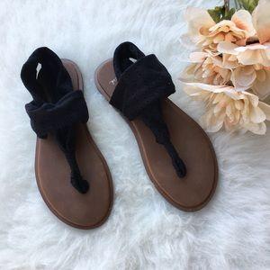 Sanuk Devine Black Thong Sandals