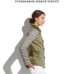 Madewell Crossweave Sleeve Trench