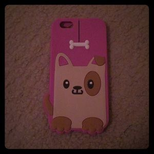 Pink doggy iPhone 6/6s phone case