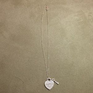 Tiffany and Co. Heart Tag with Key Pendant