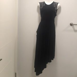 Free People Black Bohemian Dress- open back- Small