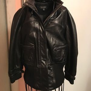 Bebe - Black Leather jacket - perfect condition
