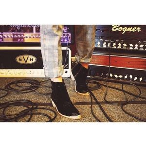 Free People Suede Black Cowboy Boots