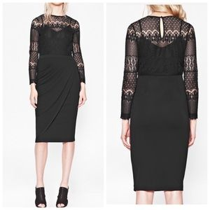 French Connection Lace Drape Dress.