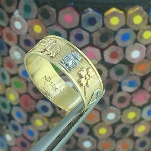 14k Gold Good Luck Ring with All lucky symbols