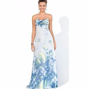 Gorgeous floral-patterned gown by Blush