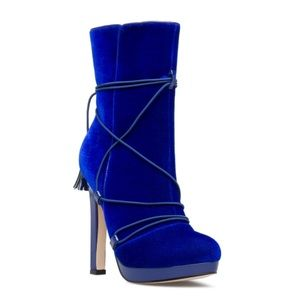 BLUE BOOT 5inches heels
