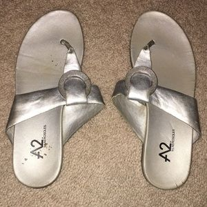 Silver adorable  thong sandals