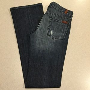7 For All Mankind Jeans 26X34 Distressed Boot NWT!