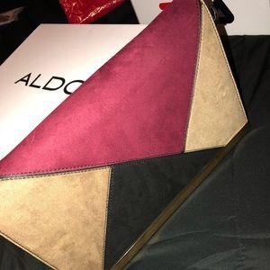 Aldo multi color clutch