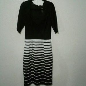 Whbm stripe dress