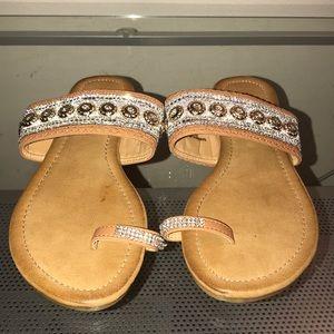 SALE. Brand new. Jeweled sandals. 7 1/2
