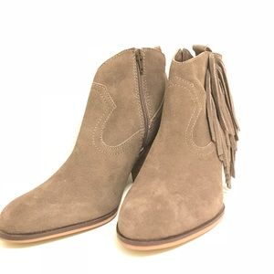 Steve Madden Cian Ankle Boots, SZ: 7.5M, Taupe