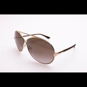 "Tom Ford ""Georgette"" Aviator Sunglasses"