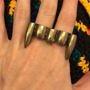 Vampire Fans Double Brassy Ring