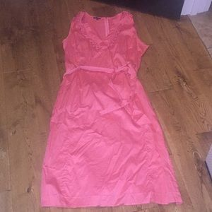 Talbots sleeveless coral dress. Size 12