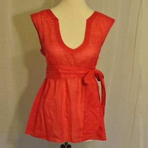 J.Crew Size 6 Red Tank with Sash